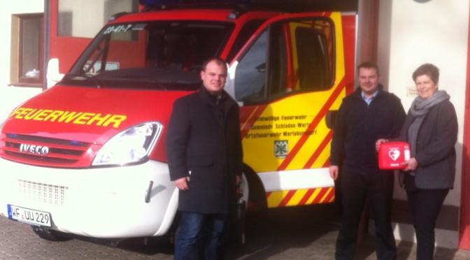 CDU Werlaburgdorf informiert: Defibrillator im Feuerwehr-Gerätehaus