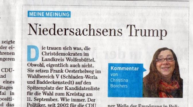 Pressemitteilung zum Artikel: Niedersachsens Trump