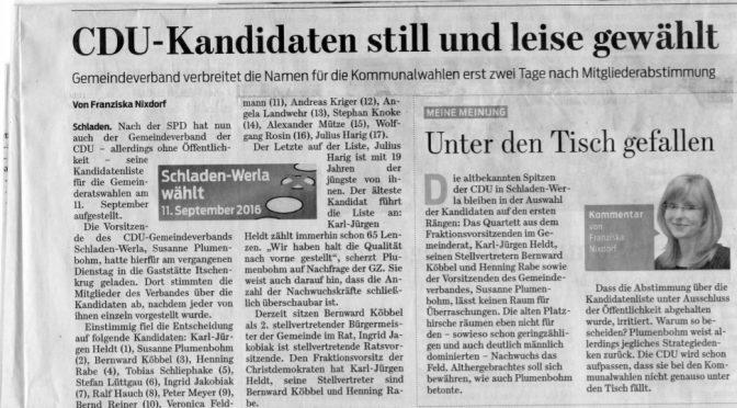 Stellungnahme GZ-Bericht Gemeinderatswahl
