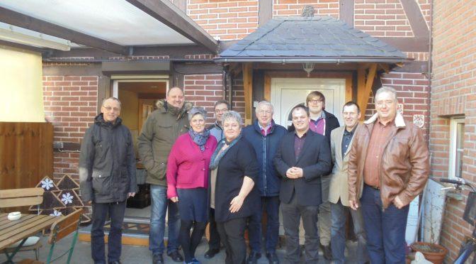 """Der CDU-Gemeindeverband tagte im """"Dorfcafe"""" in Werlaburgdorf"""