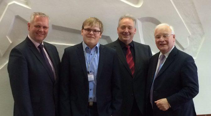 Alexander Mütze besucht Frank Oesterhelweg in Hannover