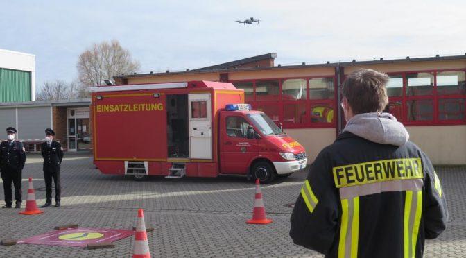 Drohnen für die Feuerwehr: Erfolgreicher Testflug