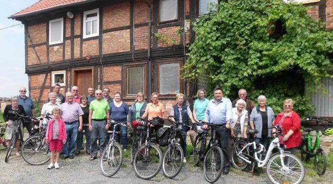 CDU Schladen mit dem Fahrrad unterwegs – auch zur Wedde-Weiche